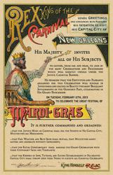 Mardi Gras Royal Invitation from Krewe of Rex